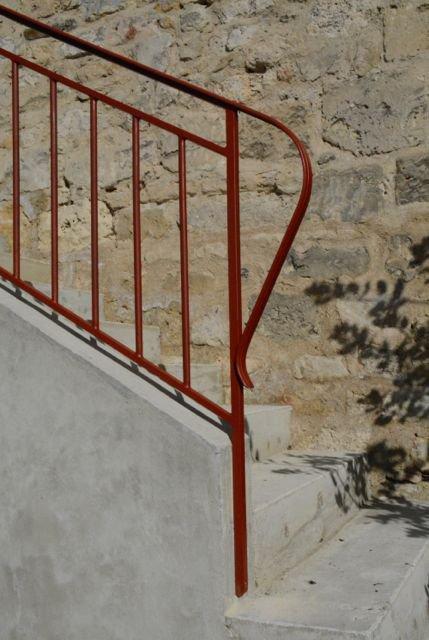 Rampe d'escalier à chiffres-val - détail