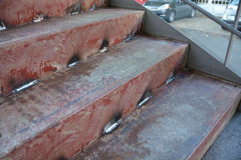 Rénovation d'un escalier métallique