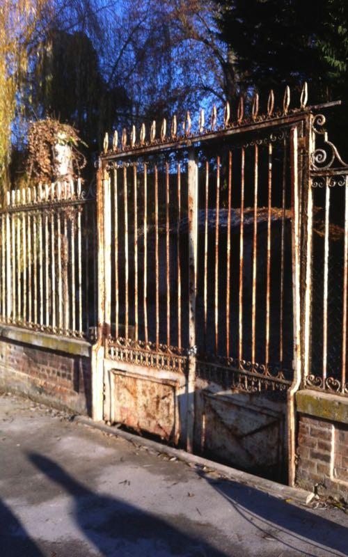 Rénovation de grilles anciennes à Courcelles sue Vesle