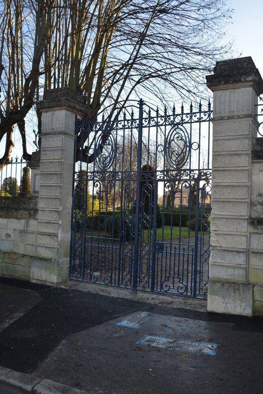 Rénovation du portail d'un jardin public