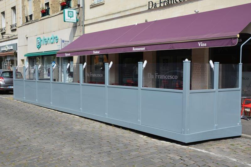 Terrasse de restaurant à Soissons